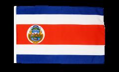 Drapeau Costa Rica avec ourlet