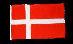 Drapeau Danemark avec ourlet