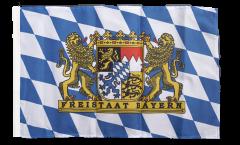 Drapeau Allemagne Bavière Freistaat Bayern avec ourlet