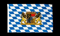 Drapeau Bavière avec Lion avec ourlet