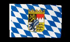 Drapeau Allemagne Bavière avec blason avec ourlet