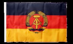 Drapeau Allemagne RDA avec ourlet