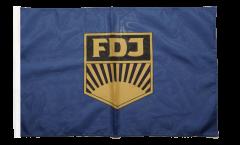 Drapeau Allemagne RDA FDJ Jeunesse libre allemande avec ourlet