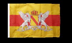 Drapeau Allemagne Grand-Duché de Bade avec Blason avec ourlet