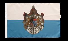 Drapeau Allemagne Royaume de Bavière 1806-1918 avec ourlet