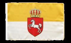 Drapeau Allemagne Royaume de Hanovre 1814-1866 avec ourlet