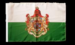 Drapeau Allemagne Royaume de Saxe 1806-1918 avec ourlet
