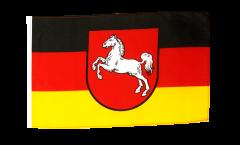 Drapeau Allemagne Basse-Saxe avec ourlet