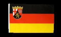 Drapeau Allemagne Rhénanie-Palatinat avec ourlet