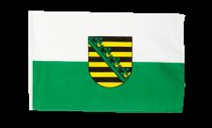 Drapeau Allemagne Saxe avec ourlet