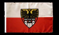 Drapeau Allemagne Duisbourg avec ourlet