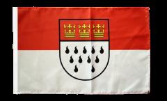 Drapeau Allemagne Cologne avec ourlet