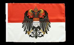 Drapeau Allemagne Cologne avec grand blason avec ourlet
