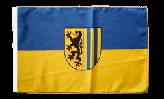 Drapeau Allemagne Leipzig avec ourlet