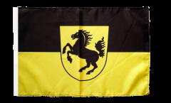 Drapeau Allemagne Stuttgart avec ourlet
