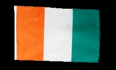 Drapeau Côte d'Ivoire avec ourlet
