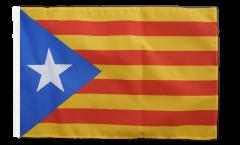 Drapeau Estelada blava Catalogne avec ourlet