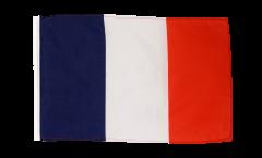 Drapeau France avec ourlet