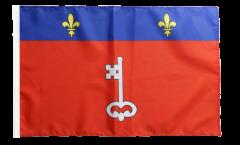 Drapeau France Angers avec ourlet