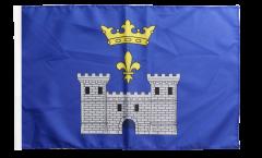 Drapeau France Angoulême avec ourlet