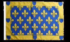 Drapeau France Ardèche avec ourlet