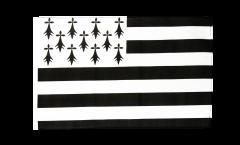 Drapeau France Bretagne avec ourlet
