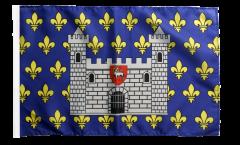 Drapeau France Carcassonne avec ourlet