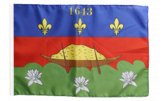 Drapeau France Guyane Cayenne avec ourlet