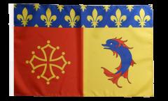 Drapeau France Hautes-Alpes avec ourlet