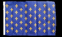 Drapeau France Fleur-de-Lys, bleu avec ourlet