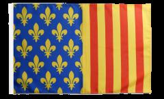 Drapeau France Lozère avec ourlet