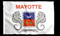 Drapeau France Mayotte avec ourlet