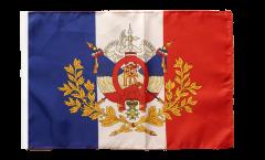 Drapeau France avec blason - 30 x 45 cm