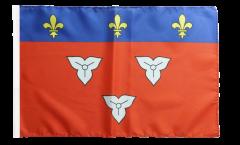 Drapeau France Orléans avec ourlet