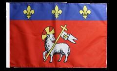 Drapeau France Rouen avec ourlet