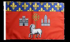 Drapeau France Toulouse avec ourlet