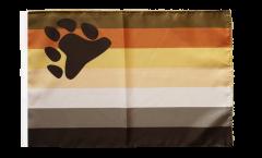 Drapeau Gay Pride Bear avec ourlet
