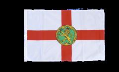 Drapeau Royaume-Uni Aurigny Alderney avec ourlet
