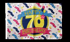 Drapeau Happy Birthday avec ourlet