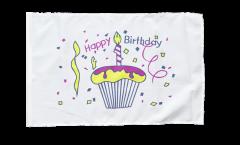 Drapeau Happy Birthday gâteau avec ourlet