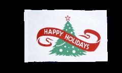 Drapeau Happy Holidays avec ourlet