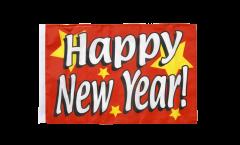 Drapeau Happy New Year avec ourlet