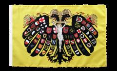 Drapeau Saint-Empire romain germanique Aigle à deux têtes avec ourlet