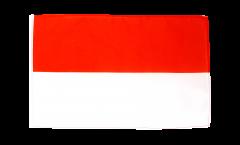 Drapeau Indonésie avec ourlet