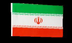Drapeau Iran avec ourlet