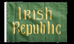 Drapeau Irlande Irish Republic Insurrection de Pâques 1916 avec ourlet