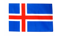 Drapeau Islande avec ourlet