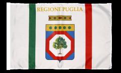 Drapeau Italie Pouilles avec ourlet