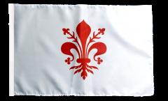 Drapeau Italie Florence avec ourlet
