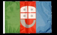 Drapeau Italie Ligurie avec ourlet